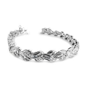 Jewelry - 14 Karat White Gold  Diamond Ladies Bracelet